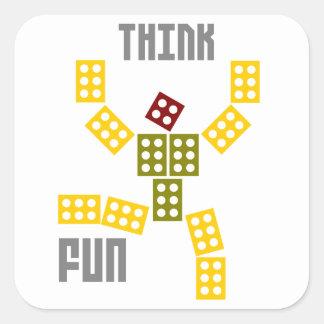 pensez l'amusement sticker carré