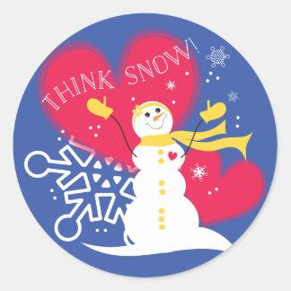 Pensez les autocollants de neige
