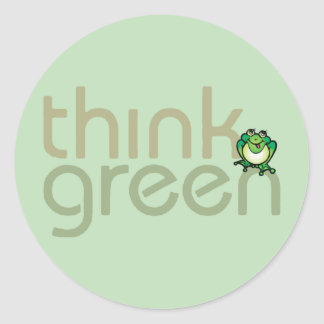 Pensez les autocollants verts de jour de la terre