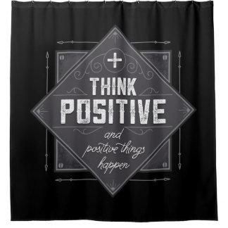 Pensez que les choses positives et positives rideaux de douche