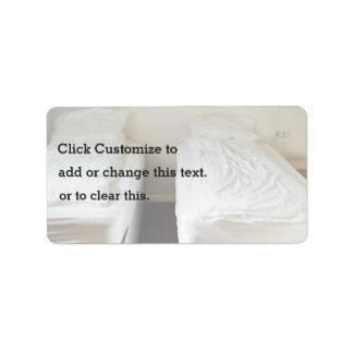 pension minimaliste simple de budget étiquettes d'adresse