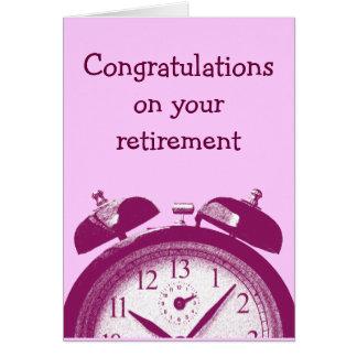 Pensionering: 13 het rood van uren kaart