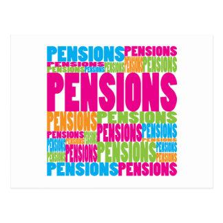 Pensions colorées carte postale
