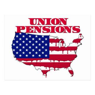 Pensions des syndicats cartes postales
