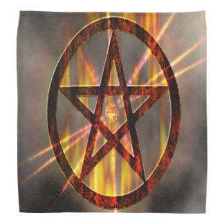 Pentagone étoilé brûlant bandana