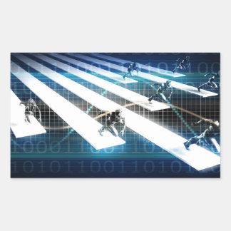 Pépinière d'entreprises pour le démarrage sticker rectangulaire