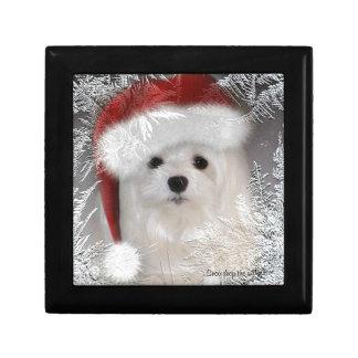 Perce-neige la boîte-cadeau maltaise de Noël Boîtes À Bijoux