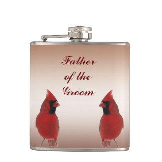 Père cardinal de mariage du marié flasques