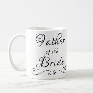 Père de la tasse des textes de jeune mariée