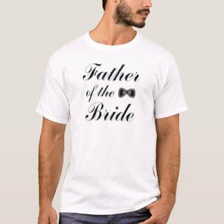 Père du T-shirt blanc de jeune mariée, S M L XL