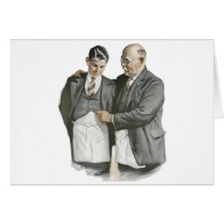 Père et fils carte de vœux