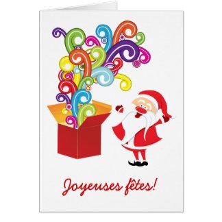 Père Noël et cartes de boîte de cadeaux