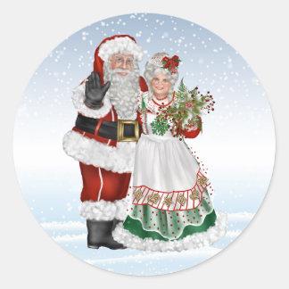 Père Noël et Mme Claus Sticker