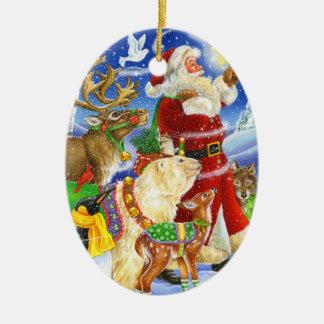 Père Noël et ornement d'animaux