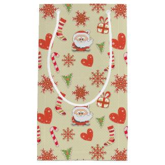 Père Noël et sucres de canne - sac de cadeau