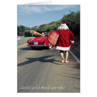 Père Noël obtient les cartes chanceuses
