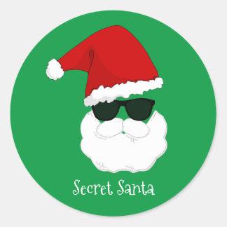 Père Noël secret Sticker Rond