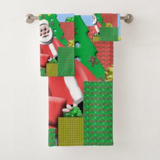 Père Noël sous l'arbre de Noël