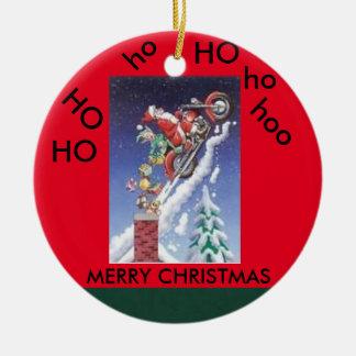 Père Noël sur un ornement de cercle de Noël de