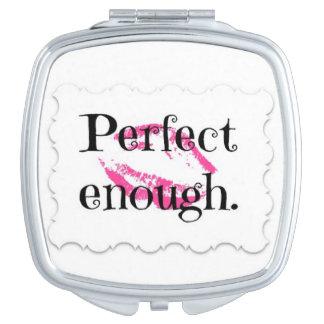 Perfecte genoeg compacte spiegel make-up spiegel