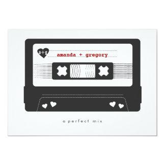Perfecte Mengeling - de Band van de Mengeling 12,7x17,8 Uitnodiging Kaart