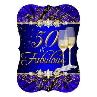 Perle et remous bleu 50 d'or et invitation