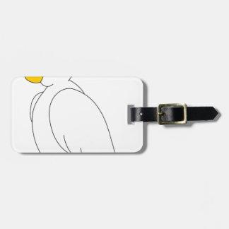 perroquet #3 étiquette à bagage
