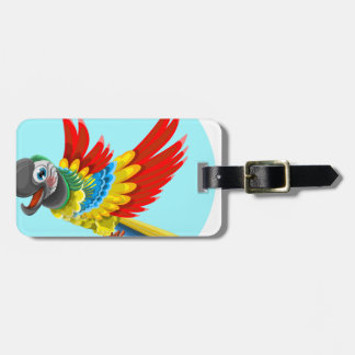 perroquet étiquette à bagage