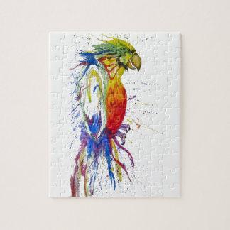 Perroquet peint vif puzzle