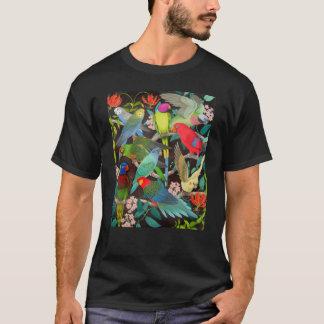 Perroquets d'animal familier du T-shirt