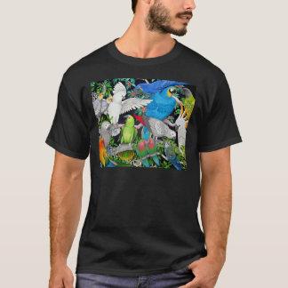 Perroquets du T-shirt d'obscurité du monde