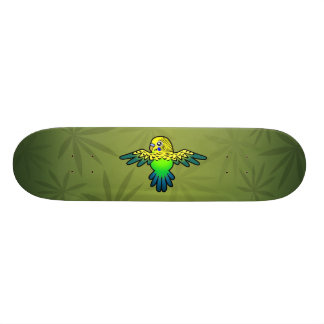 Perruche de bande dessinée skateboard