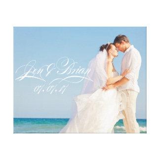Personaliseer Uw Speciaal Portret van het Huwelijk Canvas Afdrukken