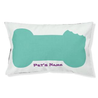 Personaliseerde het Aqua Gekauwde Been het Hondenbedden