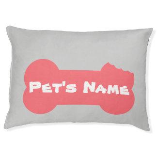 Personaliseerde het roze Gekauwde Been Groot Bed 5 Hondenbedden