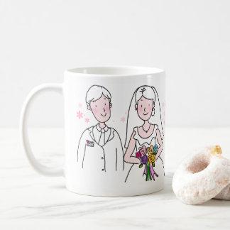 Personalizable a marié la tasse de couples
