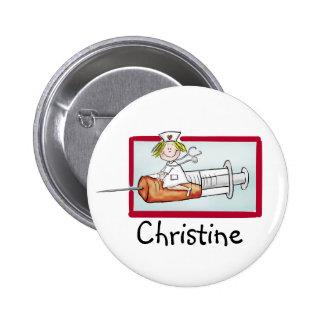 Personlaize avec le nom - bouton pour Supernurse Badge Rond 5 Cm