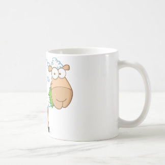 Personnage de dessin animé de moutons blancs mug blanc