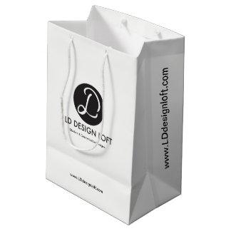 Personnalisable avec le logo de société sac cadeau moyen