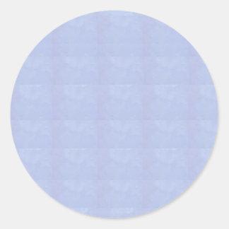 Personnalisable BLEU EN CRISTAL à d'autres FORMES Sticker Rond