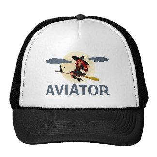 Personnalisable drôle d'aviateur casquette trucker
