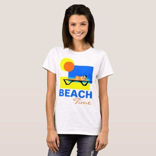 Personnalisable drôle de temps de plage t-shirt