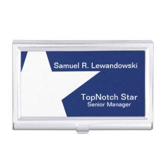 Personnalisable élégant d'étoile blanche porte-cartes de visite