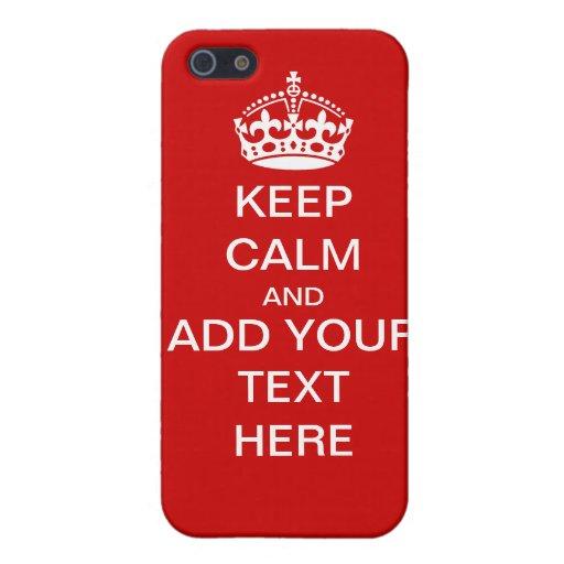 Personnalisable maintenez calme et continuez le co coques iPhone 5