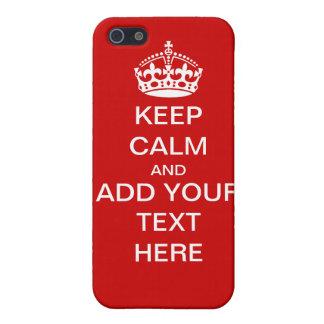 Personnalisable maintenez calme et continuez le co étui iPhone 5