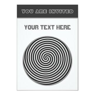 Personnalisable noir et blanc psychédélique carton d'invitation  12,7 cm x 17,78 cm