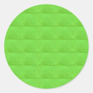 Personnalisable VERT EN CRISTAL à d'autres FORMES Sticker Rond