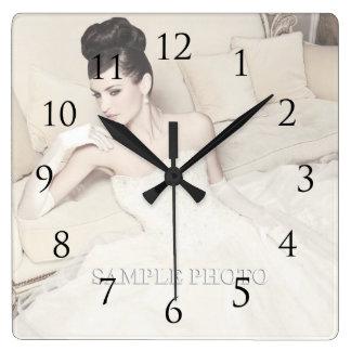 Personnalisable votre horloge murale de photo