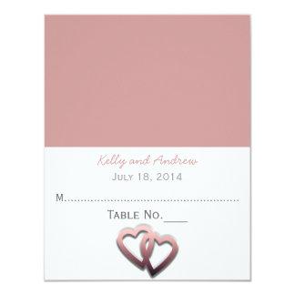 Personnalisé épousant la carte d'endroit carton d'invitation 10,79 cm x 13,97 cm