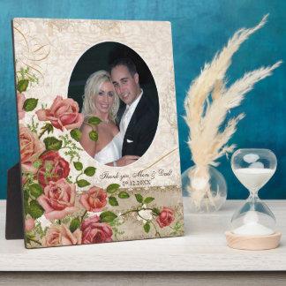 Personnalisé épousant le cru rose de treillis de p plaque d'affichage